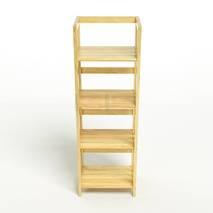 Kệ sách 4 tầng HB440 gỗ cao su màu tự nhiên