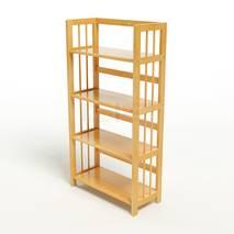 Kệ sách 4 tầng HB463 gỗ cao su màu tự nhiên