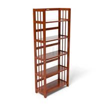 Kệ sách 5 tầng HB563 gỗ cao su màu cánh gián