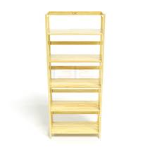 Kệ sách 5 tầng HB563 gỗ cao su màu tự nhiên
