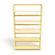 Kệ sách 5 tầng HB590 gỗ cao su màu tự nhiên