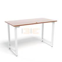 Bộ bàn Rec-T trắng màu cánh gián và ghế Eames chân gỗ trắng