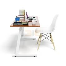 Bộ bàn Rec-Z trắng màu cánh gián và ghế Eames chân gỗ trắng