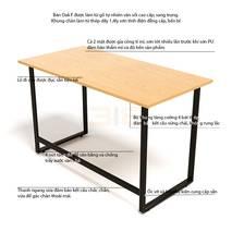 Mô tả chi tiết bàn làm việc Oak-F chân đen
