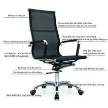 Chi tiết Ghế lưới văn phòng IB16A màu đen