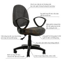 Mô tả Ghế văn phòng IB505 có tay đen