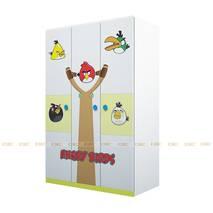 Tủ quần áo 3 cánh hình Angry Bird 1m2