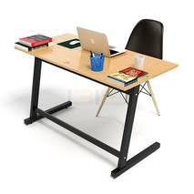 Bộ bàn Oak-Z đen vân sồi và ghế Eames đen 2