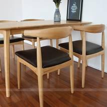 Bộ bàn ăn 4 ghế Bull màu tự nhiên