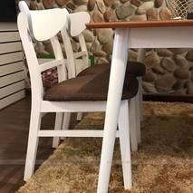 Bộ bàn ăn 4 ghế Cacao màu trắng