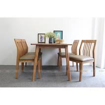 Bộ bàn ăn 4 ghế Hanam màu tự nhiên