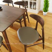 Bộ bàn ăn 4 ghế Suwon màu walnut 5