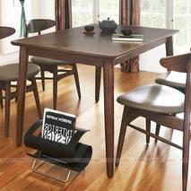 Bộ bàn ăn 4 ghế Suwon màu walnut 2