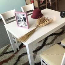 Bộ bàn ăn 4 ghế Ulsan màu trắng 3