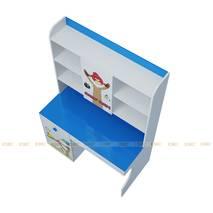 Bộ bàn học có giá sách hình Angry Bird 1m2 màu xanh