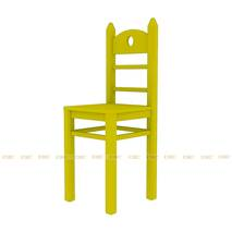 Bộ bàn học có giá sách hình Angry Bird 1m2 màu vàng