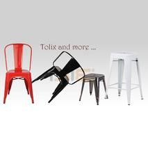 Ghế đôn Tolix chân thấp 45cm nhiều màu