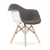 Ghế Armest bọc thổ cẩm chân gỗ nhiều màu