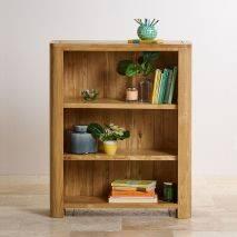 Tủ sách Romsey thấp gỗ sồi