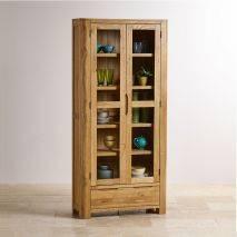 Tủ trưng bày Romsey 2 cánh kính gỗ sồi