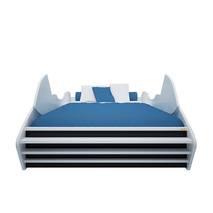 Giường mô tô màu xanh dương 1m2