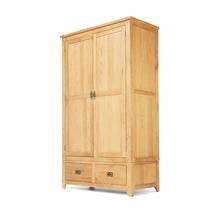 Tủ quần áo Rustic 2 cánh gỗ sồi