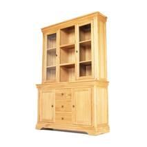 Tủ chén cao 3 cánh Victoria gỗ sồi