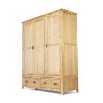 Tủ quần áo Rustic 3 cánh gỗ sồi