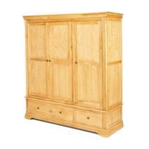 Tủ quần áo Victoria 3 cánh gỗ sồi