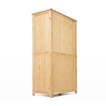 Tủ quần áo Rustic 2 cánh suốt gỗ sồi