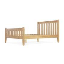 Giường đôi Rustic gỗ sồi