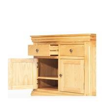 Tủ chén thấp 2 cánh 2 ngăn Victoria gỗ sồi