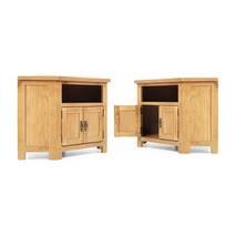 Tủ TV góc Rustic gỗ sồi