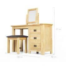 Bộ bàn trang điểm Rustic gỗ sồi