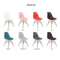 Bộ bàn Oak-T trắng vân sồi và ghế Eames chân gỗ