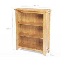 Tủ sách 3 ngăn Rustic gỗ sồi