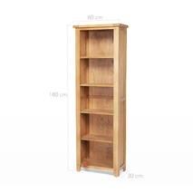 Tủ sách 5 ngăn Rustic gỗ sồi