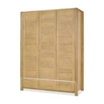 Tủ quần áo Casa 3 cánh gỗ sồi