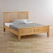 Giường đôi Bevel gỗ sồi