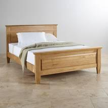 Giường đôi Classic gỗ sồi