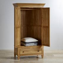 Tủ áo 2 cánh Classic gỗ sồi