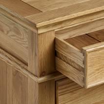 Tủ chén thấp Classic lớn gỗ sồi