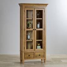 Tủ trưng bày 2 cánh kính Classic gỗ sồi