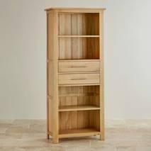 Tủ sách Rivermead cao gỗ sồi