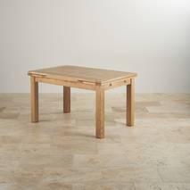 Bộ bàn ăn mở rộng Bevel gỗ sồi 6 ghế