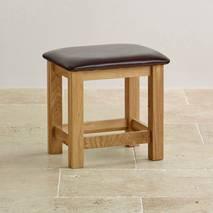 Ghế trang điểm Bevel mặt nệm gỗ sồi