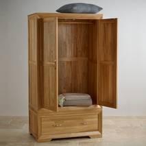 Tủ áo 2 cánh Bevel gỗ sồi