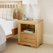 Tủ đầu giường Bevel 1 ngăn gỗ sồi