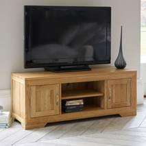 Tủ TV 2 cánh Bevel gỗ sồi