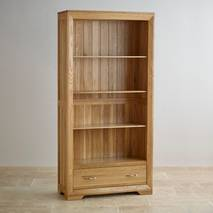 Tủ sách cao Bevel gỗ sồi